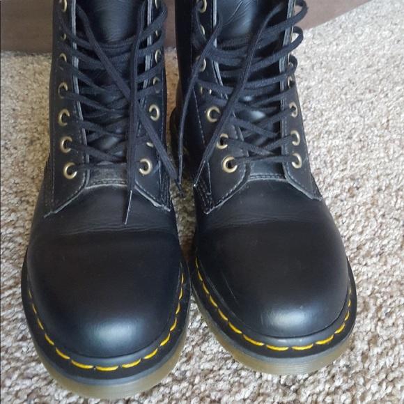 Vegan black Dr. Marten combat boots womens size 9